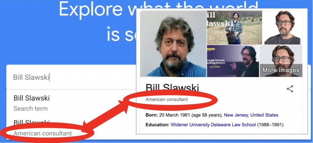 Bill Slawski; America consultant